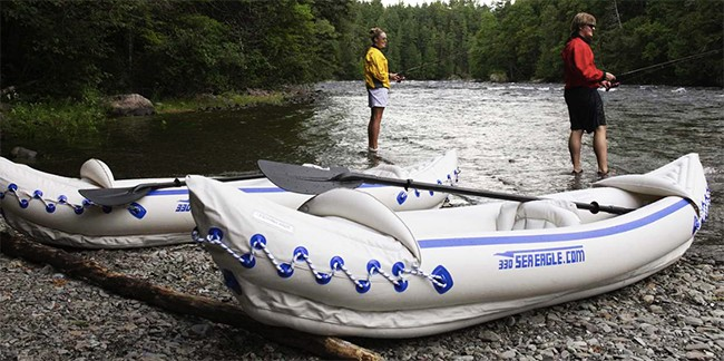 Sea Eagle 330 Inflatable Kayak Fishing
