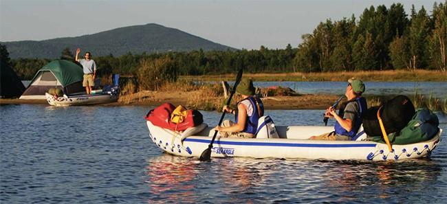 Sea Eagle 370 Inflatable Kayak Camping