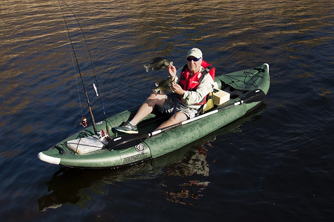 Sea eagle 385fta fasttrack angler review inflatable kayaker for Best inflatable fishing kayak