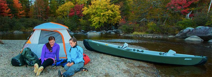 Sea Eagle TC16 Canoe Camping