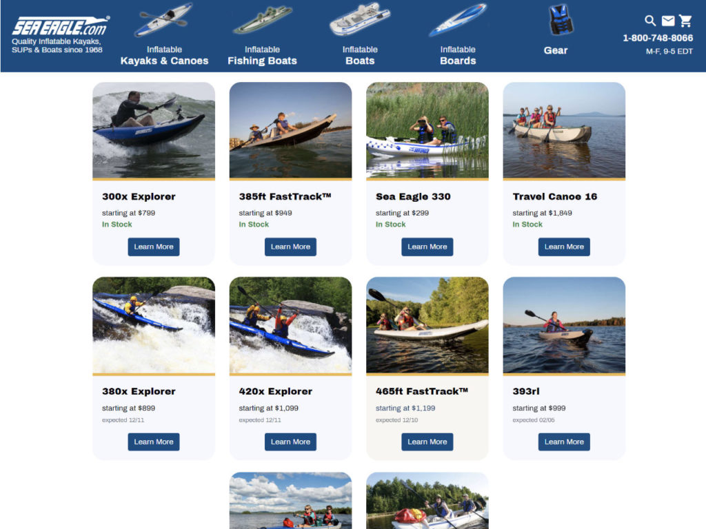 Sea Eagle Website Kayak Sale